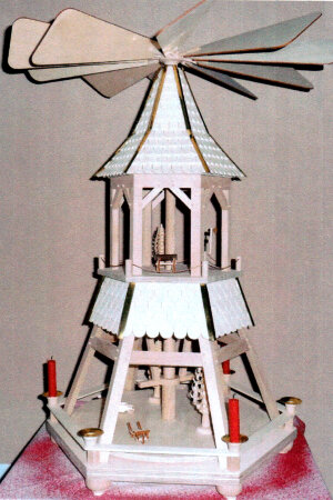 Göpelpyramide Bauplan Laubsägevorlage Pyramide...