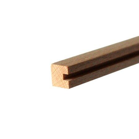 Zaunleiste 10x10x250 mm Nut 3 mm Anfangs- u. Endsäule