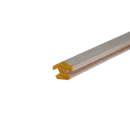 Nutleiste 3 mm Nut für 6eck Pyramide Eckleiste Buche